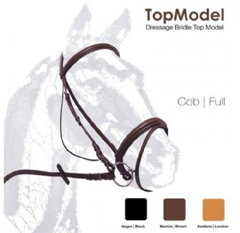 """Top Model"" single bridle with flash noseband"